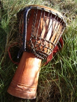 African djembe hand drum